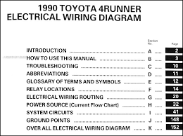 1990 toyota 4runner wiring diagram manual original