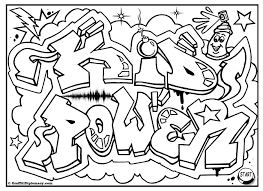 Small Picture KID POWER free graffiti coloring page free printable colouring