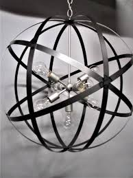 modern industrial steel orb 30 inch orb