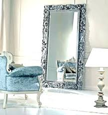 Large White Floor Mirror Antique White Floor Mirror And Large Mirror