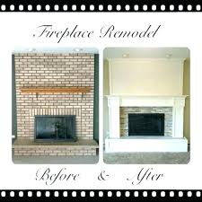 update brick fireplace updated brick fireplaces update fireplace remodel more raised hearth best ideas on red