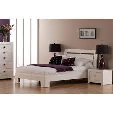 bari bedroom furniture. World Furniture Bari High Gloss White Double Bed Bedroom W
