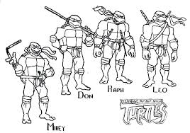 Ninja Turtles Coloring Pages For Toddlers Ninja Turtle Coloring