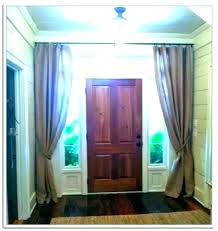window treatments for front doors with glass a charming light door curtain panel side curtains entry