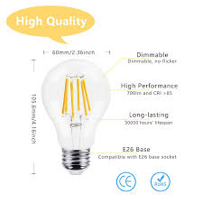 Light Bulb Beam Angle Dicuno Dimmable A19 A60 Edison Led Bulb 6w 60w Equivalent