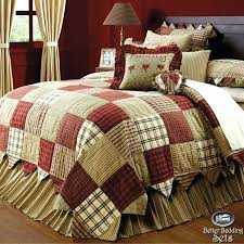 country red green patchwork twin queen cal king quilt bedding set accessories country patchwork quilt patterns