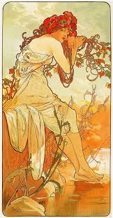 artist alphonse mucha completion date 1896 style art nouveau modern series the seasons genre allegorical painting technique oil gallery private
