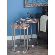 litton lane large 25 in x 18 in medium 22 in x 17 in small 20 in x 14 in colorwheel wood and metal round tables 37177 the home depot