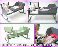 crib rocker rocking chair cradle combo free plan baby cradle tutorial
