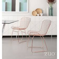 bertoia style chair. Bertoia Style Rose Gold Dining Chair