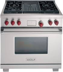 wolf gas range 36. Perfect Wolf Wolf DF364CLP  Stainless Steel With Red Knobs  With Gas Range 36 S