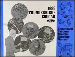 1988 ford thunderbird and mercury cougar wiring diagram original 1988 ford thunderbird mercury cougar xr 7 electrical troubleshooting manual