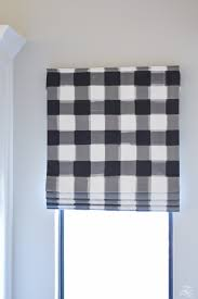 faux roman shade. How To Design A Faux Roman Shade Caitlin Wilson Buffalo Check Fabric Details Of