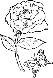 hearts and roses coloring pages rose coloring image with erfly and ladybug