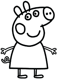 Peppa Pig Color Pages Pig Coloring Sheets Pig Colouring Pages