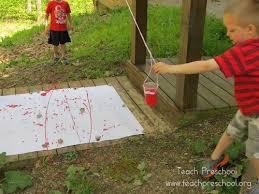 outdoor activities for preschoolers. Pendulum Painting In Preschool Outdoor Activities For Preschoolers R