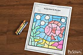 Beach coloring pages animal coloring pages printable coloring pages coloring pages for kids coloring sheets coloring books coloring worksheets. Free Ocean Color By Number