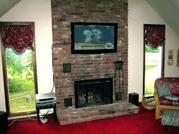 how tv on brick fireplace best mount for to hang a wall amazing flat screen t v mounting over gas fireplace lovely a framing junction boxes tv on brick
