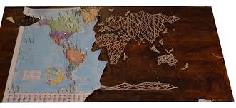 DIY String Art World Map, string art world map diy string art nail ...