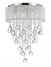 4 light chrome and white shade crystal chandelier chandeliers lighting to enlarge