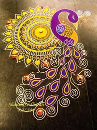 Rangoli Art Designs For Diwali Only The Mandala With Paints Rangoli Designs For