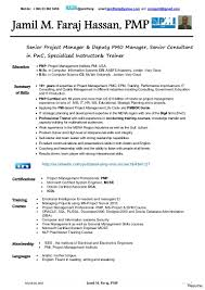 Pmp Sample Resume Pmp Resume Samples Project Manager Resume Project Manager Resume 6