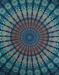 indian wall tapestry blue hangings hippie mandala tapestries art polyester fabric