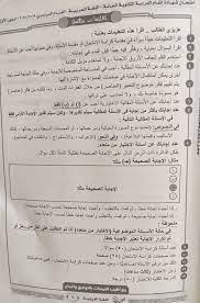 نموذج اجابة امتحان اللغة العربية للصف الثالث الثانوى 2020 تفاصيل شاومينج  يسرب امتحانات