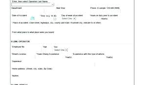 Vehicle Accident Report Form Template Company Fake Car New