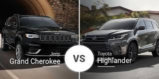 jeep grand cherokee vs toyota highlander