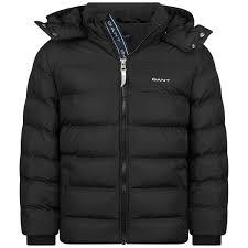 Kids Designer Coats Gant Boys Black Puffer Jacket