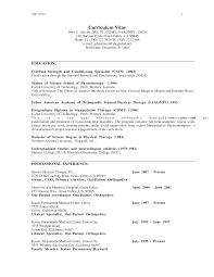 Physical Therapist Resume Sample Resume For Your Job Application
