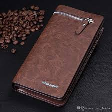 universal large capacity pu leather men clutch long purse phone wallet for phone under 5 5 inches 4 styles a340 zip around wallet kids wallets from