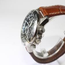 mens citizen eco drive watch with brown leather band
