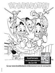 Kleurplaat Donald Duck Junior Kleurplatennl