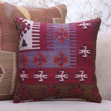 retro home decoration accent kilim cushion 16x16 oriental rug pillow