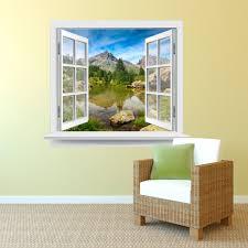 Premiumdesign Wandtattoo Fenster Schöner Ausblick In Eine Ruhige