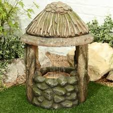 wishing well water feature inc leds