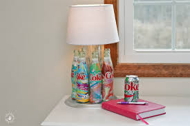 table lamp made out of seven it s mine t e bottles