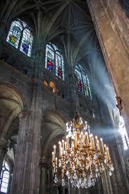 Ilmaisia Kuvia Saint Eustache Kattokruunu Auringonvalo