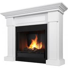 Real Flame Hillcrest 48-Inch Gel Fireplace With Mantel - White ...