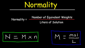 Equivalent Weight Chart How To Calculate Normality Equivalent Weight For Acid Base Reactions In Chemistry