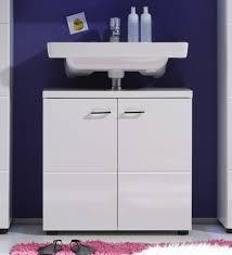 Waschbeckenunterschrank Hochglanz Weiß Waschkommode