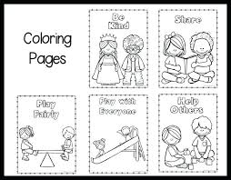Kindness Coloring Pages For Kindergarten Kindness Coloring Pages