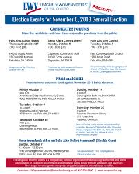Pta Elections Flyer Candidate Forums And Pros Cons Of November Ballot Upcoming