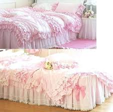 ruffle comforter sets dreamy pink fairy tales ruffled quilt full queen intended for pink throughout ruffle