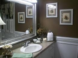 image of great wall decor for small bathroom