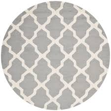 safavieh cambridge silver ivory 10 ft x 10 ft round area rug