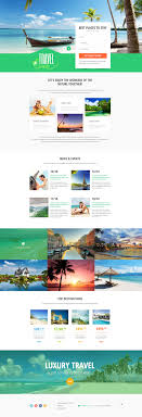 Travel Templates Travel Agency Responsive Landing Page Template 53870