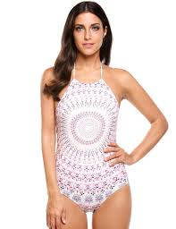 Ekouaer Womens Bathing Suit Halter High Neck Backless One Piece Swimsuit White L